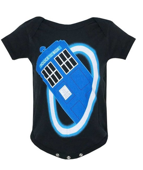 Unisex-baby Doctor Who Time Warp Snapsuit