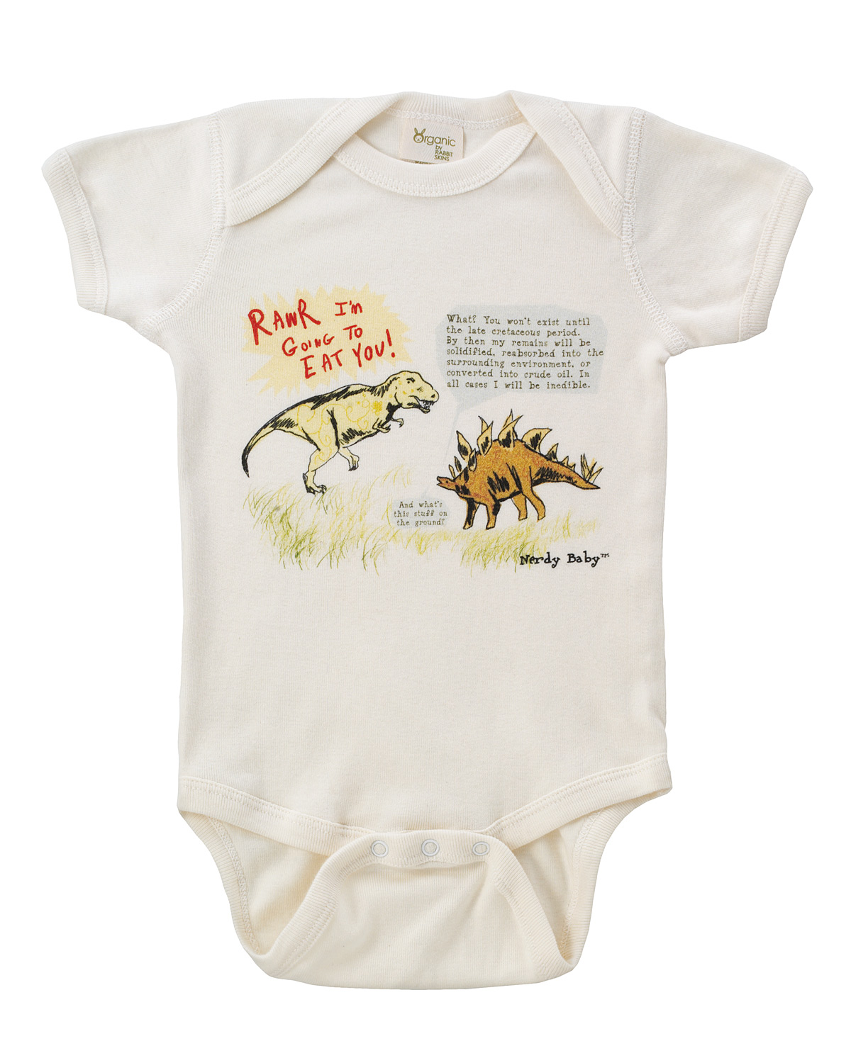 T Rex And Stegosaurus Arguing About Science Baby One
