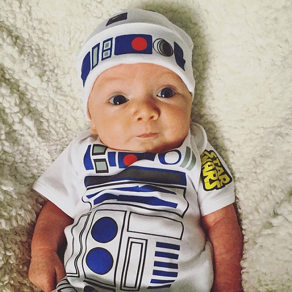 Star Wars R2d2 Costume Onesie And Hat Geek Baby Clothes